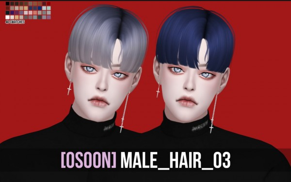 Osoon: Male Hair 03 for Sims 4
