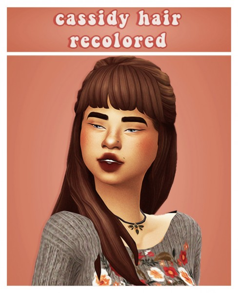 Cowplant Pizza: Cassidy hair recolored for Sims 4