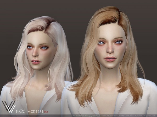 The Sims Resource: WINGS OE1221 hair for Sims 4