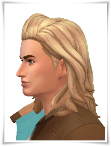 Birksches sims blog: MB Long Hair male for Sims 4