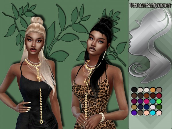 The Sims Resource: WINGS HAIR OE1212 Recolored by Teenageeaglerunner for Sims 4