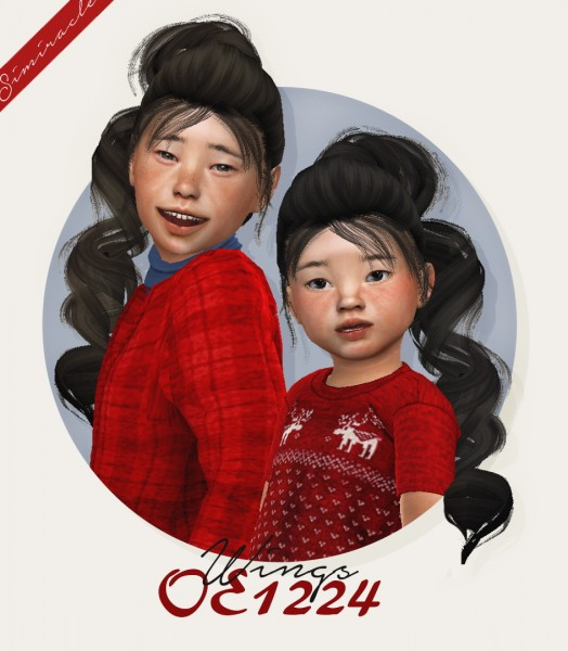 Simiracle: Wings OE1224 hair retextured for Sims 4