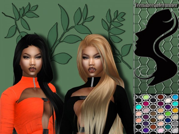 The Sims Resource: Eden Hair Recolored by Teenageeaglerunner for Sims 4