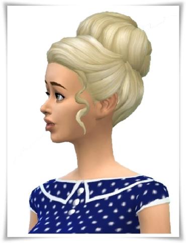 Birksches sims blog: Come on Bun Hair for Sims 4