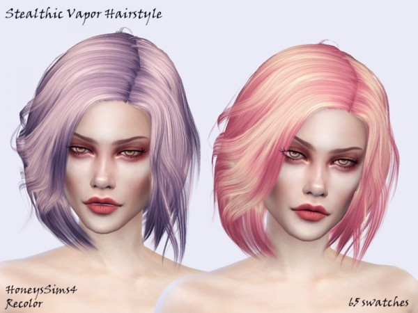 The Sims Resource: Stealthic`s Vapor Hair Recolored by Jenn Honeydew Hum for Sims 4