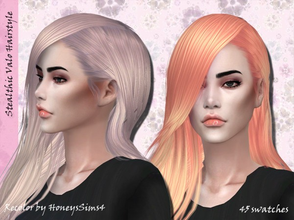 The Sims Resource: Stealthic`s Valo Hair Recolored by for Sims 4