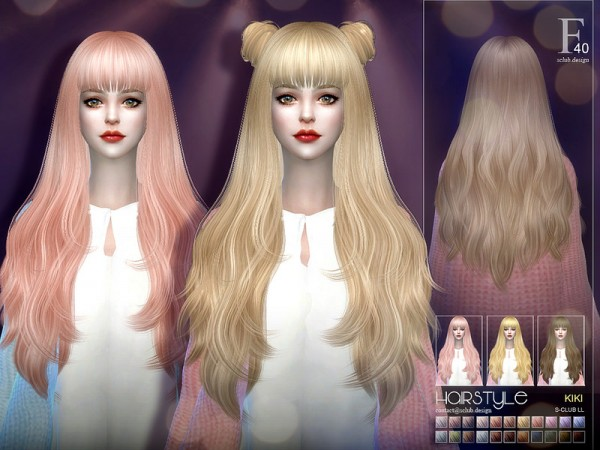 The Sims Resource: Hair KIKI n40 by S club for Sims 4