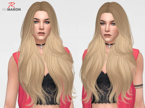 The Sims Resource: Bombshell Hair Retextured by remaron for Sims 4