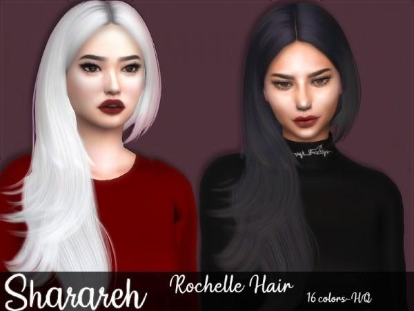 The Sims Resource: Rochelle Hair retextured by Sharareh for Sims 4