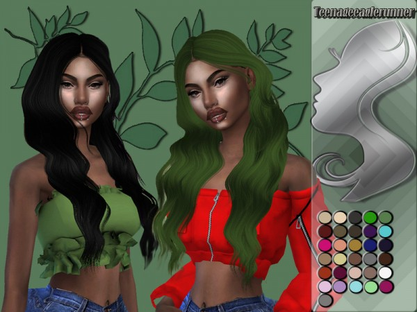 The Sims Resource: Raine Hair Recolored by Teenageeaglerunner for Sims 4