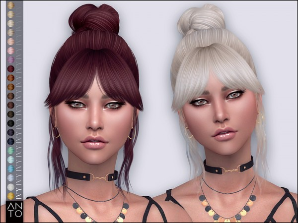 The Sims Resource: Ivy Hair by Anto for Sims 4