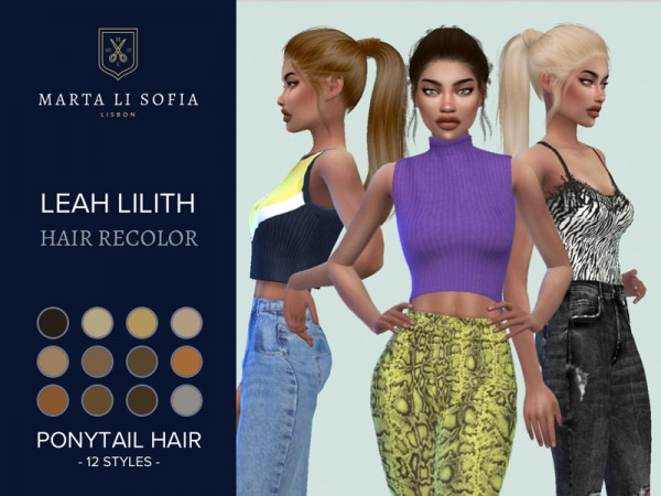 The Sims Resource: LeahLilit`s Everlasting hair recolor by martalisofia for Sims 4