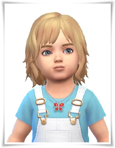 Birksches sims blog: Little Emil Bob hair for Sims 4