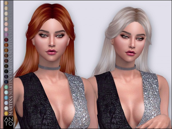 The Sims Resource: Martina Hair by Anto for Sims 4