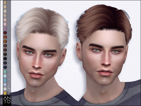 The Sims Resource: Alan Hair by Anto for Sims 4