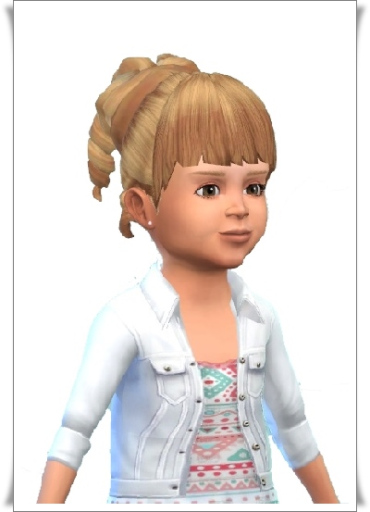 Birksches sims blog: Toddler's Fame Curls hair retextured for Sims 4