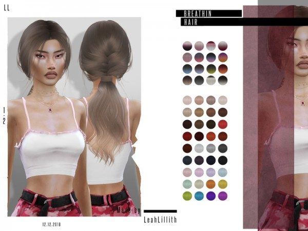The Sims Resource: Breathin Hair by LeahLillith for Sims 4
