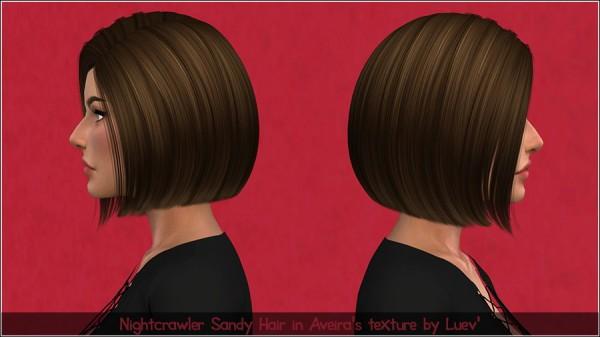 Mertiuza: Nightcrawler`s Sandy Hair Retextured for Sims 4