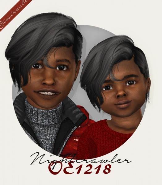 Simiracle: Wings OE1218 hair retextured   kids and toddlers version for Sims 4