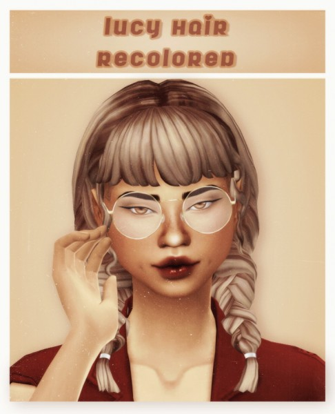 Cowplant Pizza: Lucy hair recolored for Sims 4