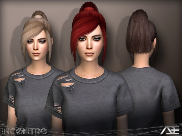 The Sims Resource: Incontro hair by Ade Darma for Sims 4