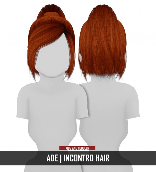 Coupure Electrique: AdeDarma`s Incontro hair retextured   kids and toddlers version for Sims 4