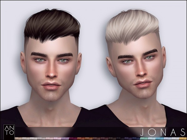 The Sims Resource: Jonas hair by Anto for Sims 4