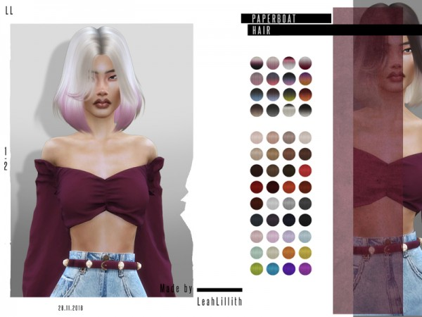 The Sims Resource: Paperboat Hair by LeahLillith for Sims 4