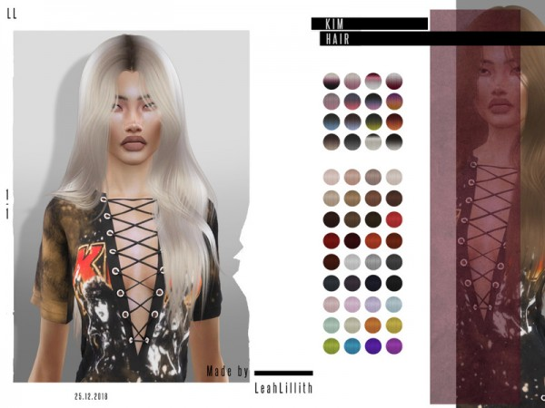 The Sims Resource: Kim Hair by LeahLillith for Sims 4