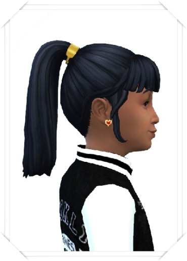 Birksches sims blog: Girly's Color Band Ponytail hair for Sims 4