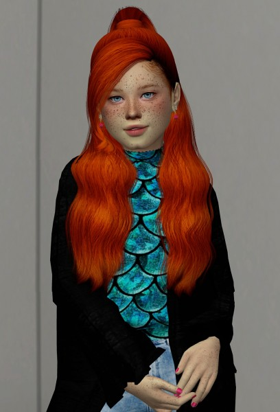 Coupure Electrique: AdeDarma`s Thank U hair retextured   kids and toddlers version for Sims 4