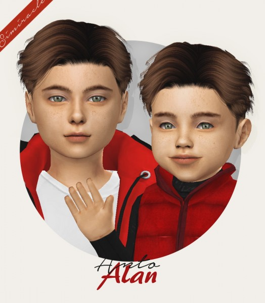 Simiracle: Anto`s Alan Hair retextured for Sims 4