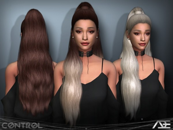The Sims Resource: Control Hair Set by Ade Darma for Sims 4