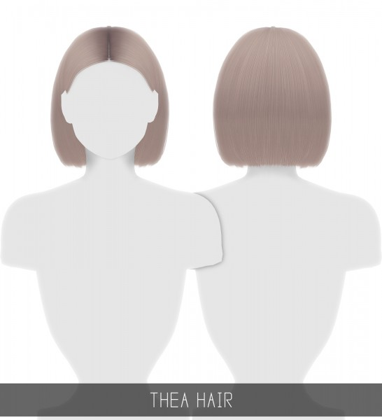 Simpliciaty: Thea Hair for Sims 4