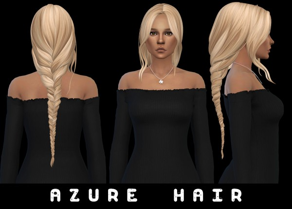 Leo 4 Sims: Azure Hair Recolored for Sims 4