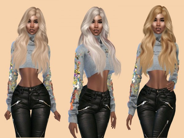 The Sims Resource: WINGS OE1102 Hair Recolored by Teenageeaglerunner for Sims 4
