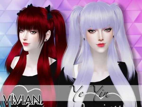The Sims Resource: Hair YeYin by VivianDang for Sims 4