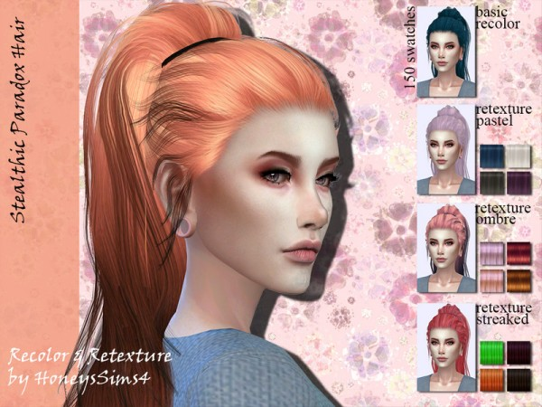 The Sims Resource: Stealthic Paradox Hair Retextured by Jenn Honeydew Hum for Sims 4