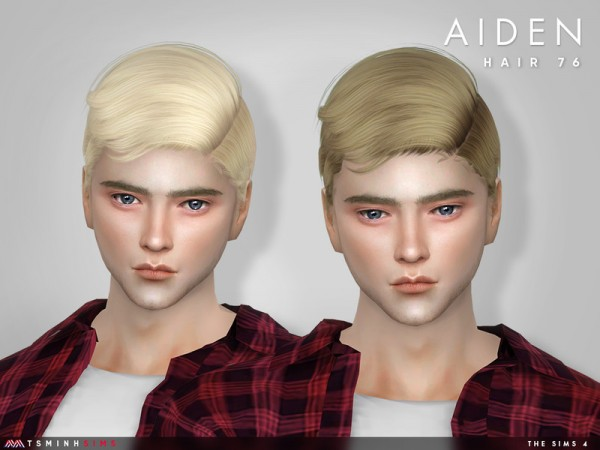 The Sims Resource: Aiden Hair 76 by TsminhSims for Sims 4
