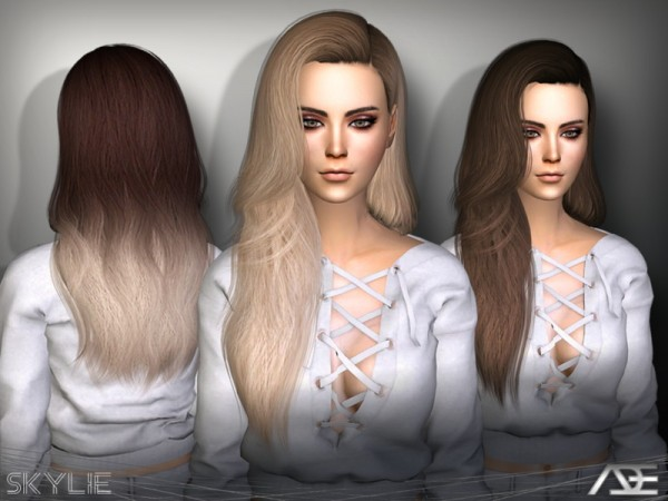 The Sims Resource: Skylie hair set by Ade darma for Sims 4