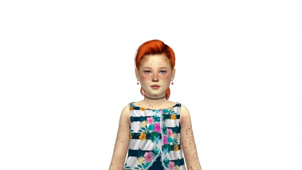 Coupure Electrique: Anto`s North hair retextured  kids and toddlers version for Sims 4
