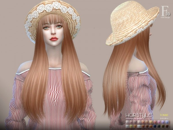 The Sims Resource: Hair Tomie n39 by S Club for Sims 4