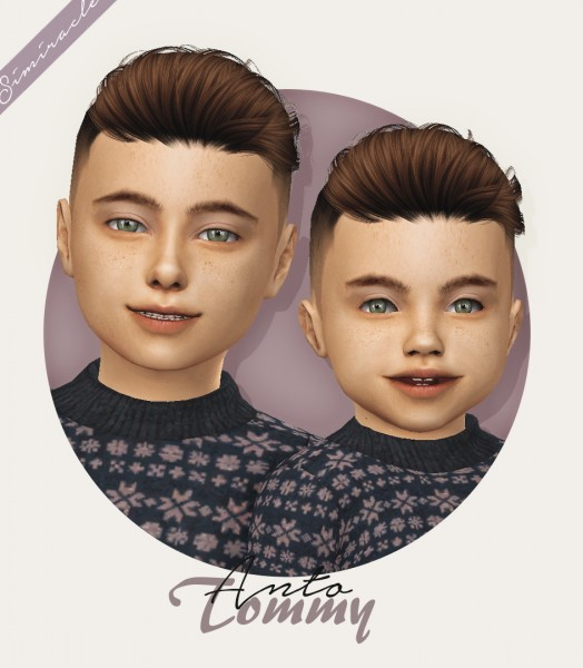 Simiracle: Anto` Tommy hair retextured for Sims 4