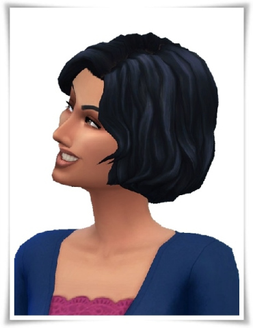 Birksches sims blog: Wendy's Wavy Bob hair for Sims 4
