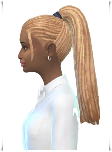 Birksches sims blog: Back Yard Dreads hair for Sims 4