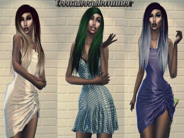 The Sims Resource: Misery Hair Recolored by Teenageeaglerunner for Sims 4