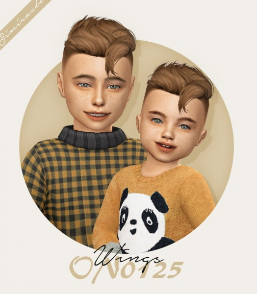 Simiracle: Wings ON0125 hair retextured   kids and toddlers version for Sims 4