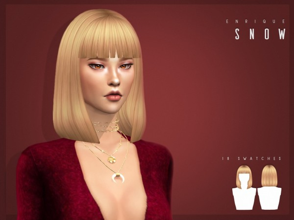 Enrique: Snow Hair for Sims 4