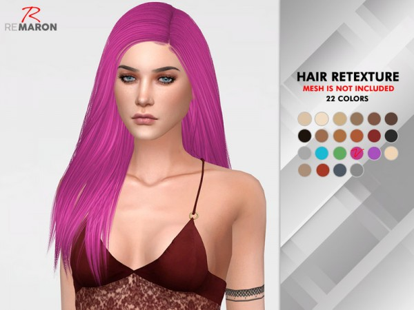 The Sims Resource: Regina HairRetextured by remaron for Sims 4
