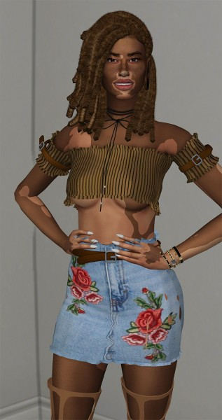 Coupure Electrique: Piece hair for Sims 4